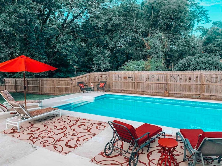 Entire Historic Home with a private pool/hot tub!