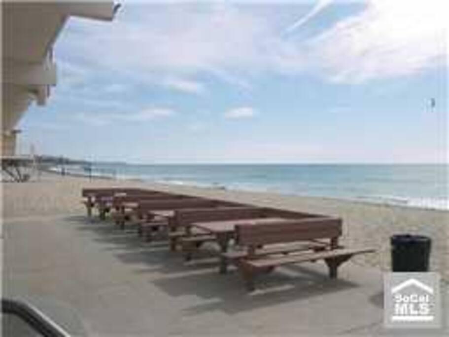 Exclusive Beach club patio