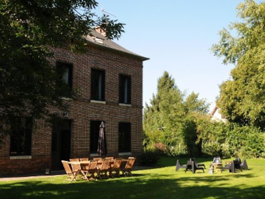 Demeure de charme cdb avec piscine maisons louer for Piscine haute normandie