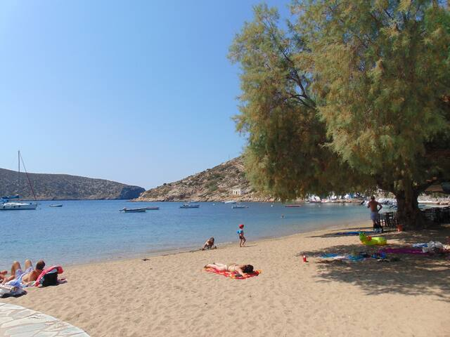 One of the beaches (a small one) of Vathi