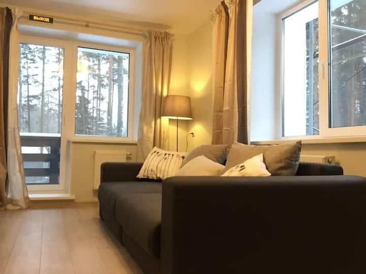 Апартаменты с гостиной и 2 спальнями(1 или 2 этаж)