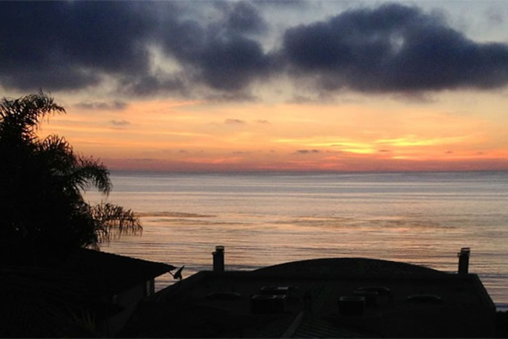 Amazing sunsets- and even a glimpse of Catalina!