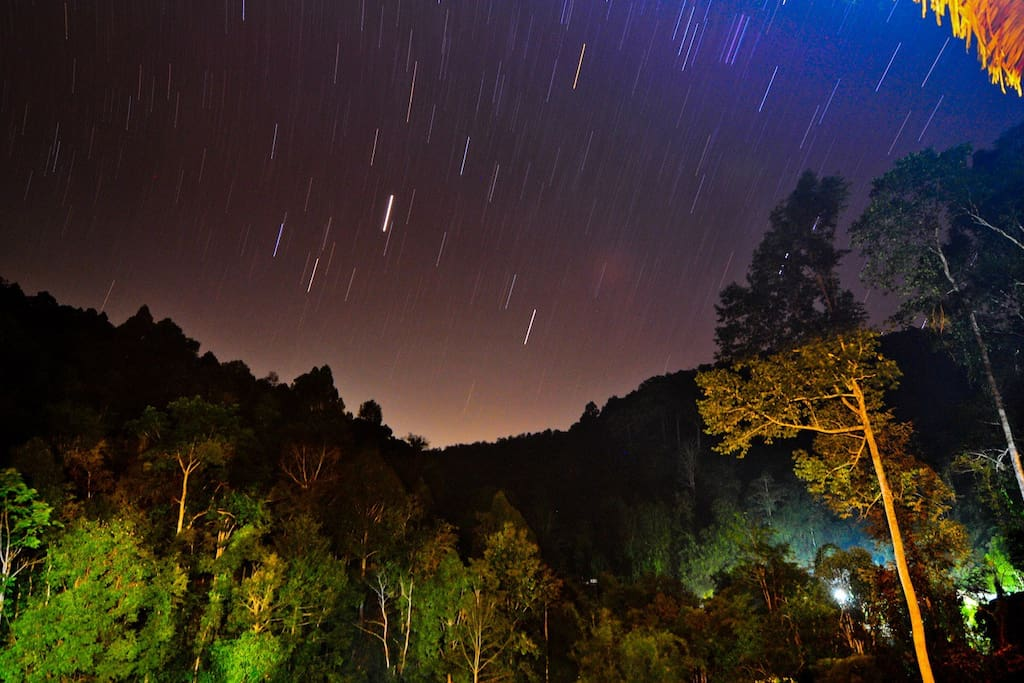 Star gazing from the Tree House Terrace