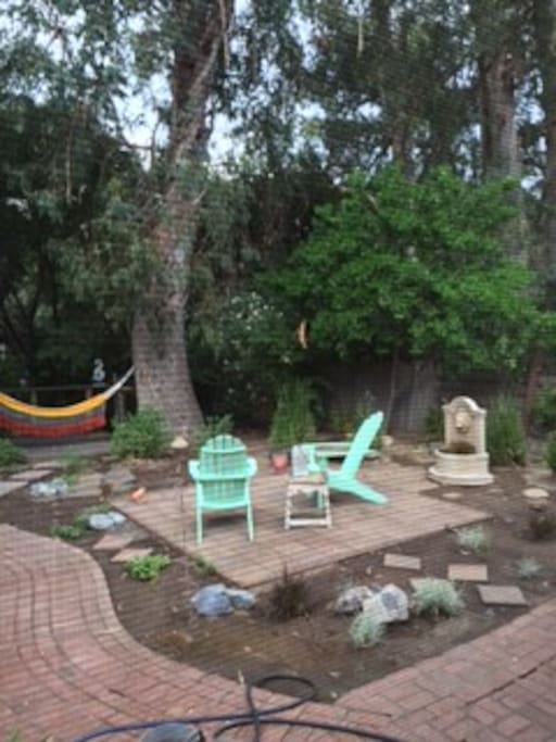 back yard, hammock available!