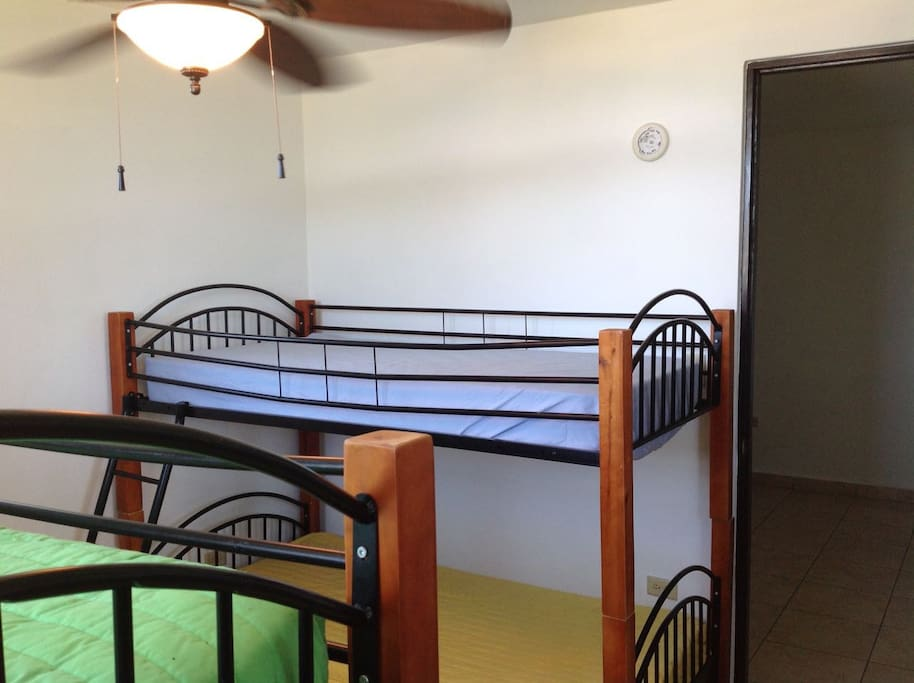 Two bunk beds at second bedroom.