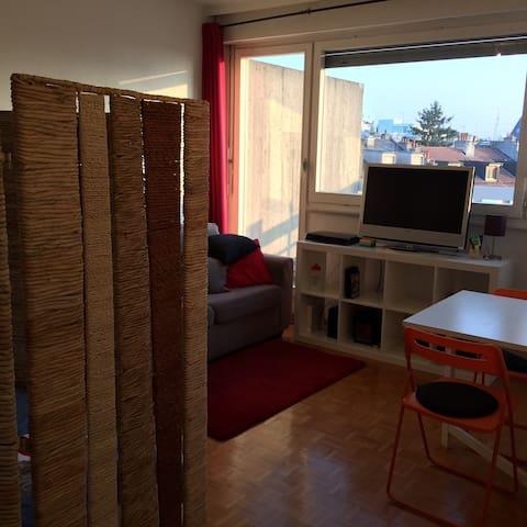 Comfortable Cozy Studio with Large Terrace - Genève - Apartment