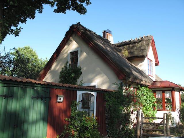 Gediget Skånehus med halmtak - Höör - Talo