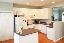 Open fully equipped kitchen. Bring some food and create you culinary dreams.