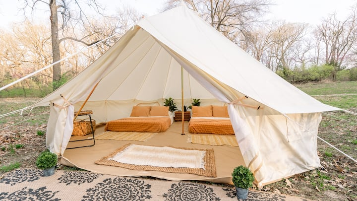 Luxury Boho Style Glamping -15 Mins to Downtown KC
