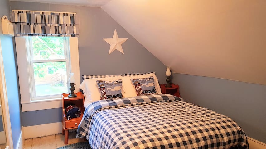 First floor bedroom, with natural feather and down duvet and all cotton linens