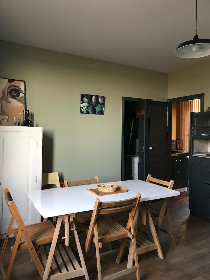 Logement cosy & stylé dans demeure proche Perche