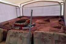 One end of camper/bed