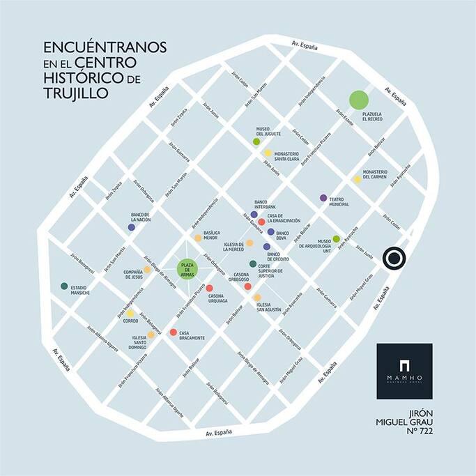 Ubicados a solo 500 mts. de la Plaza de Armas.