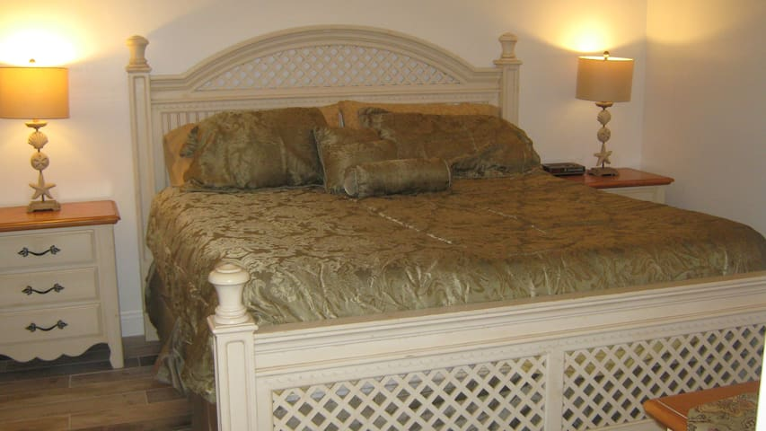 King sized master bed