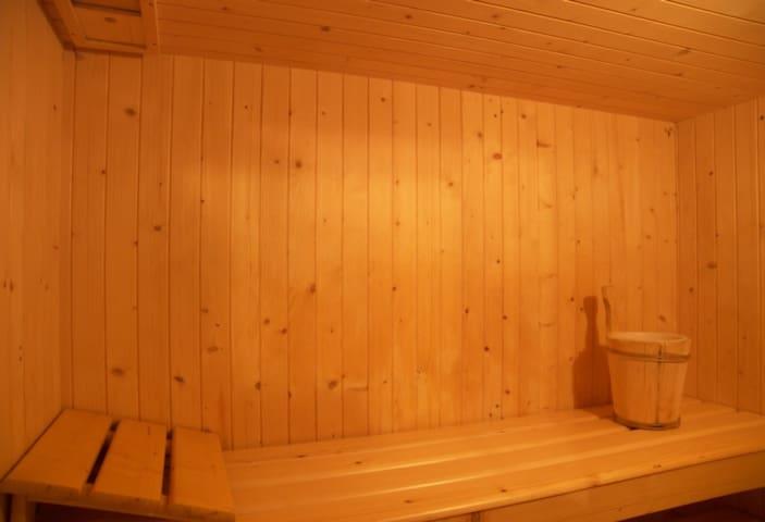 L'interno della Sauna