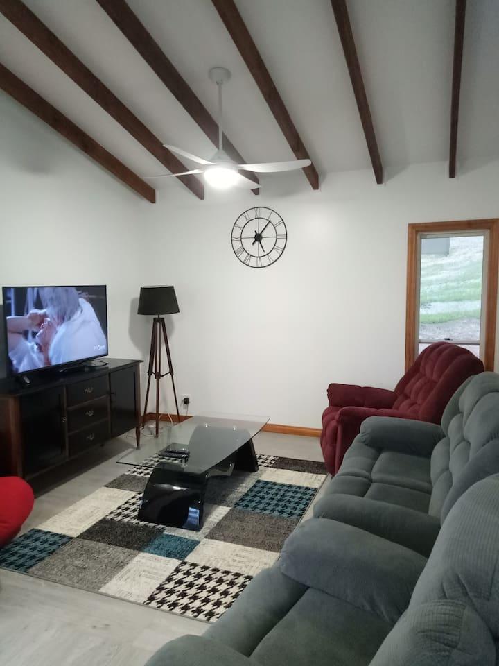 Exposed beams in living areas