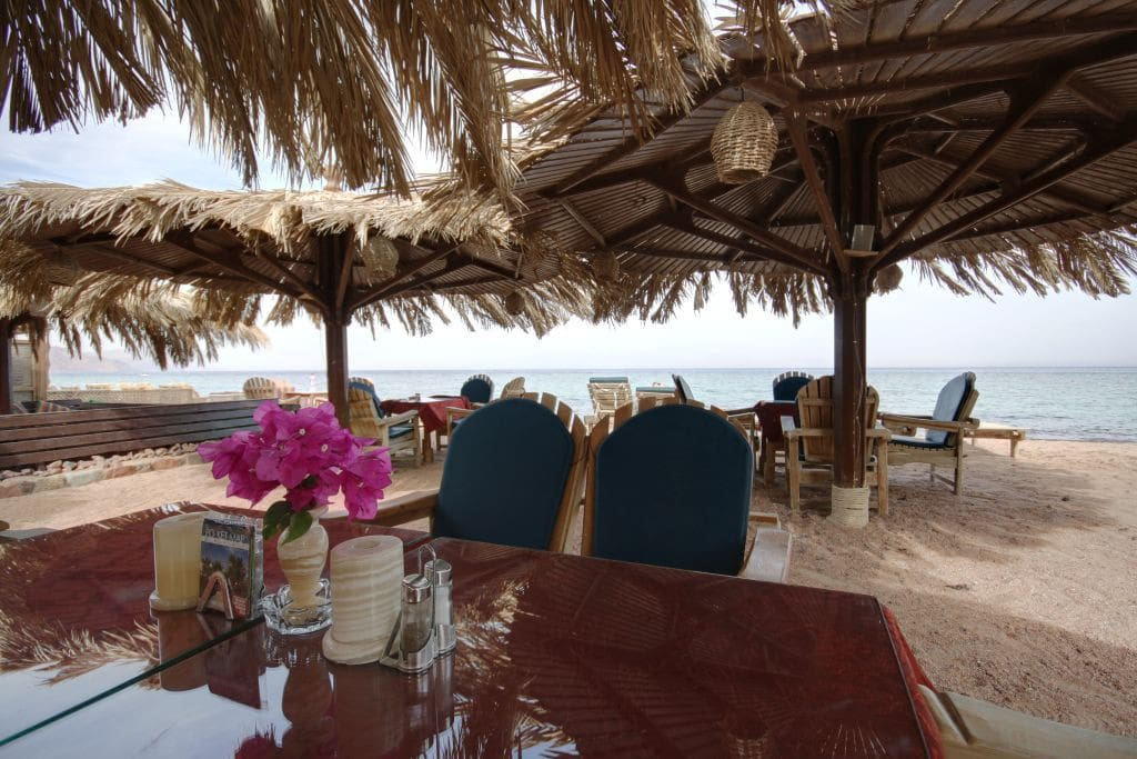 Enjoy your breakfast on the beach.