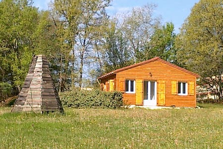 Lot,chalet neuf 2 pers.calme,nature - Dégagnac - スイス式シャレー
