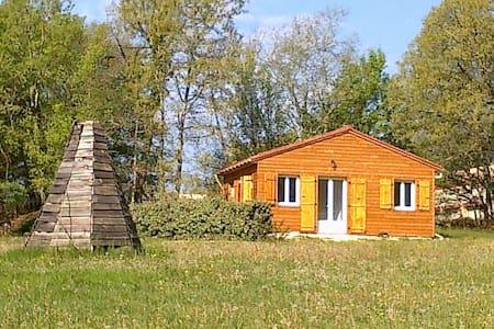 Lot,chalet neuf 2 pers.calme,nature - Dégagnac - Hytte (i sveitsisk stil)