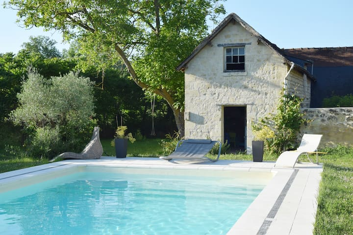 Beautiful house, pool, donkeys, Loire Valley