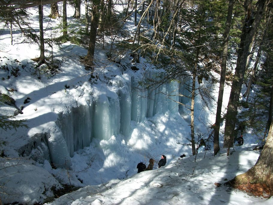 Ice Caves at Midland.  Several waterfalls in area.
