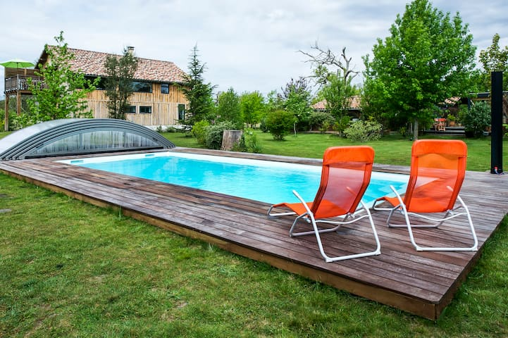 BERGERIE SPA Piscine Proche  OCEAN  - Escource - Haus