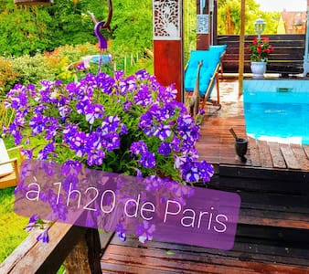 Chalet atypique 1h20 de Paris. Minimum 2 personnes