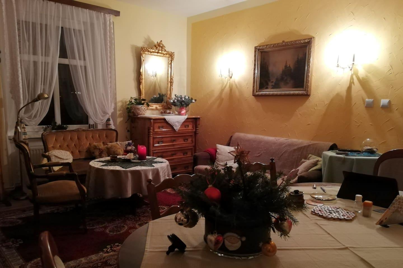 Wohnzimmer in Weihnachts Stimmung