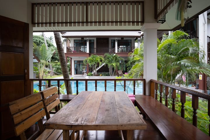 Bungalow suite by the pool @ Coconut Tree Homestay