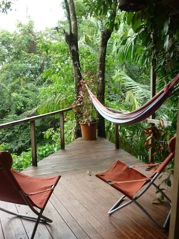 Hammock and comfy chairs to hang out