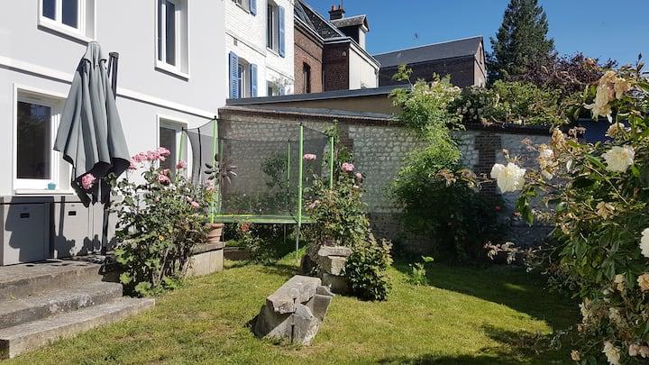 maison de ville avec jardin , Rouen centre