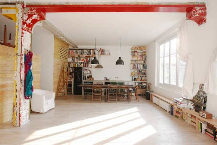 THE AUTHENTIC PARISIAN BOBO-LOFT IN BELLEVILLE