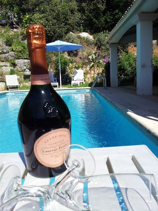 Champagne on arrival, by your pool
