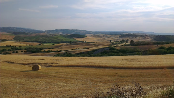 Amazing view of Val d'Orcia Pienza