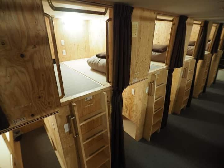 ちょい寝ホテル札幌手稲/ドミトリールーム 男女共用 二段ベッド1名分