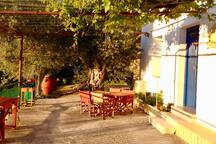 Terrace on sunshine