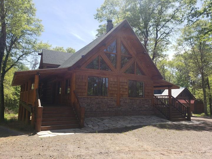 Voyager log cabin.