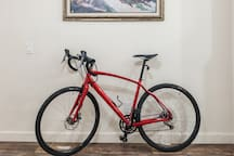 my Specialized road bike, available for daily rental along with my mountain bike.