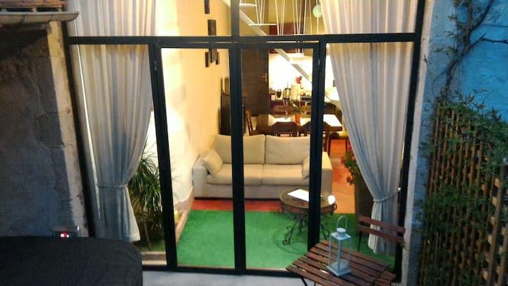 Loft de 100 m² au calme dédié à la détente.