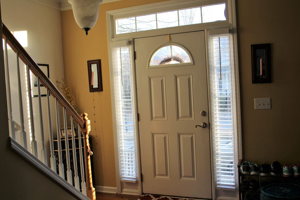 Front door - Stairs to the Bedroom