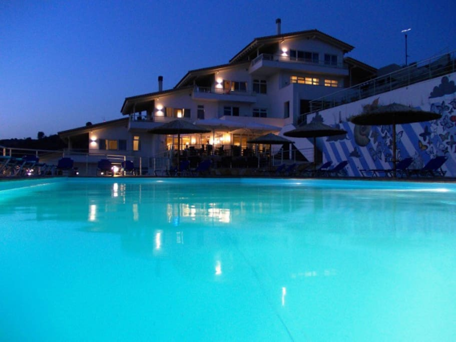 Enjoy the panoramic view and sunset over Aegean sea