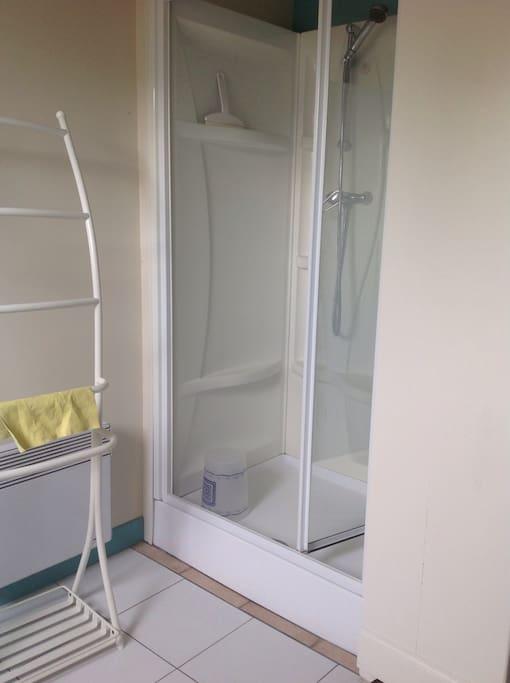 La douche à l'étage