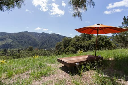 Sunny house on the hillside