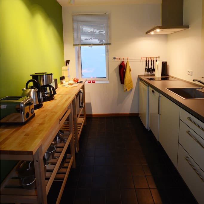 the kitchen - small but fully equiped