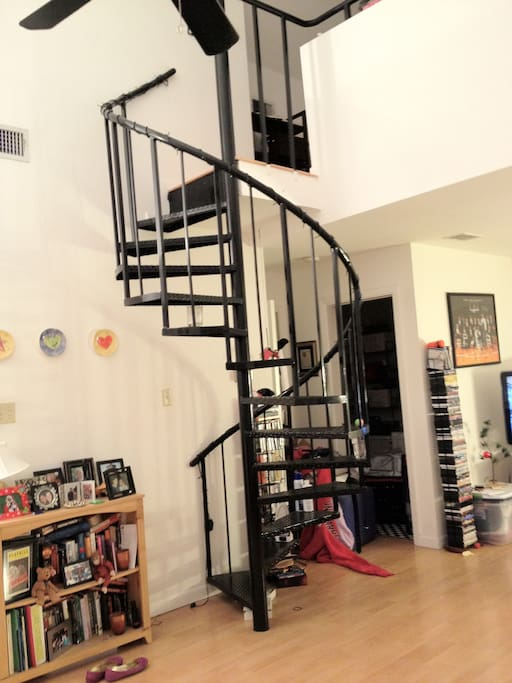Spiral staircase to the loft