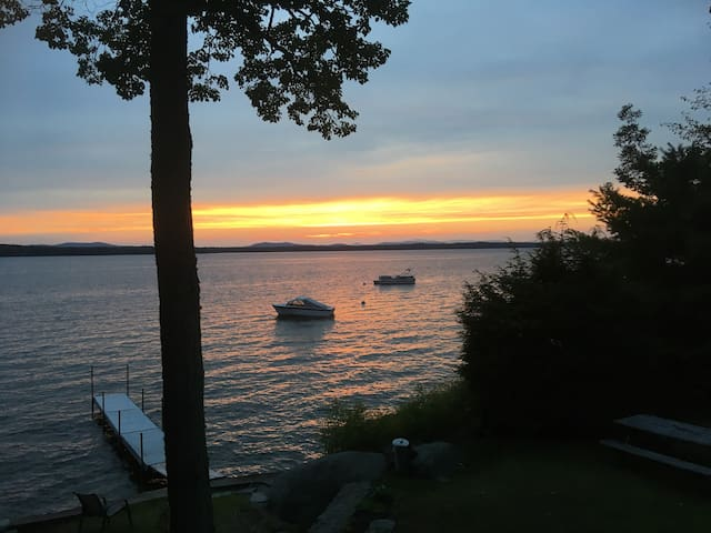 Enjoy Sunsets at Welcoming Lake Front Property