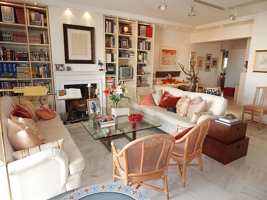 Living Room / the sofas can serve as extra beds