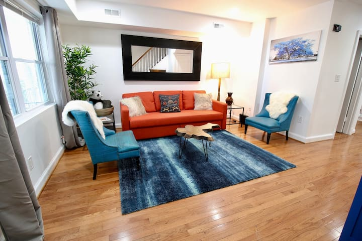 Capitol Hill RowHouse w/ Parking, Metro, Sleeps8
