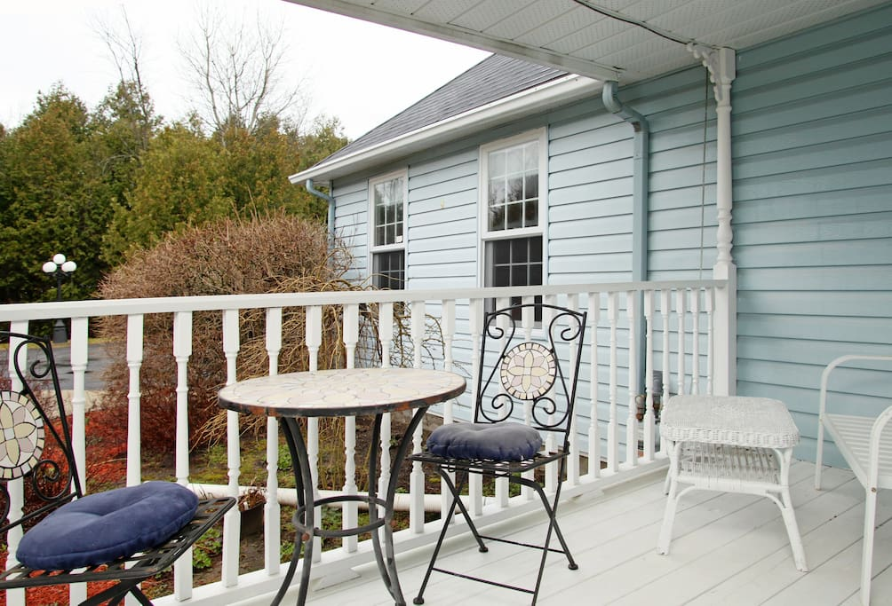 Wrap around porch- a great book corner or enjoy tea time!