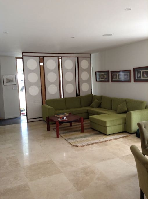 Spacious downstairs living area